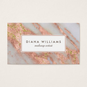 Pink business cards templates zazzle sparkling pink marble abstract makeup artist business card reheart Image collections