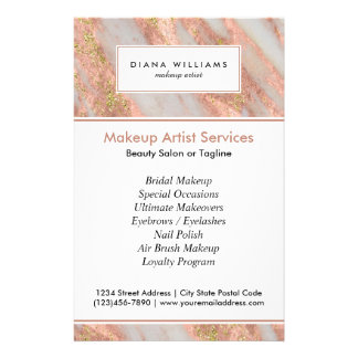 Makeup Artist Flyers Amp Programs Zazzle