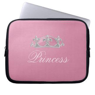 Sparkling Pink Princess Crown Electronics Case Laptop Computer Sleeves