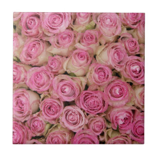 Sparkling pink roses by TheRoseGarden Tile