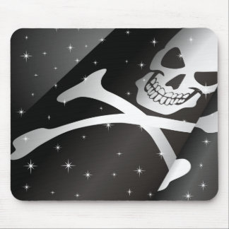 Sparkling Pirate Flag Mouse Pad