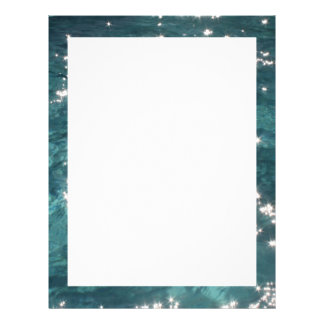 """Sparkling Pool Water Background 8.5"""" X 11"""" Flyer"""