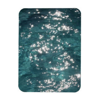Sparkling Pool Water Background Flexible Magnet