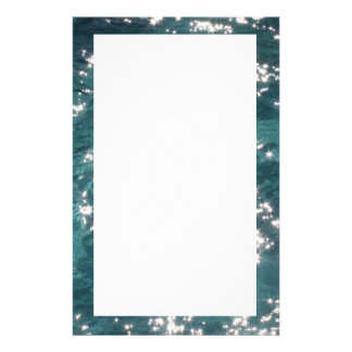 Sparkling Pool Water Background Stationery