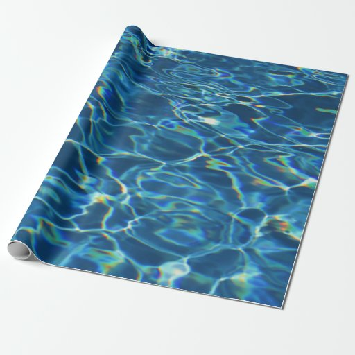 Sparkling Pool Water Wrapping Paper Zazzle