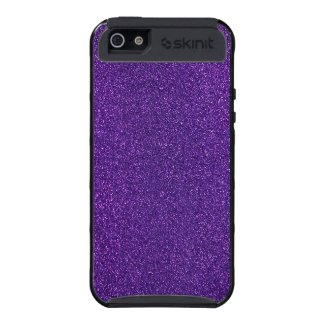 Sparkling purple glitter Skinit iPhone 5 case.