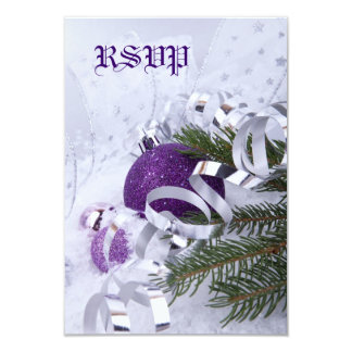 Sparkling Purple Ornaments RSVP Card