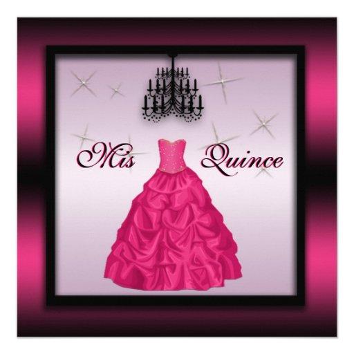 Sparkling Quinceanera Invite