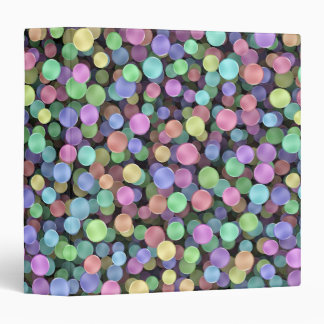 Sparkling Rainbow Polka Dots 3 Ring Binder