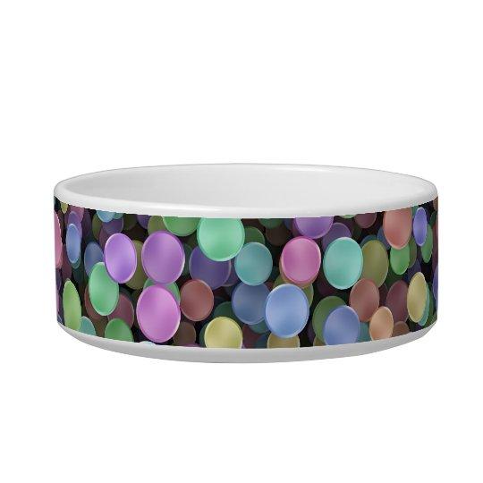 Sparkling Rainbow Polka Dots Bowl