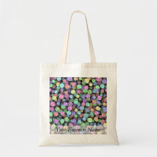 Sparkling Rainbow Polka Dots Budget Tote Bag