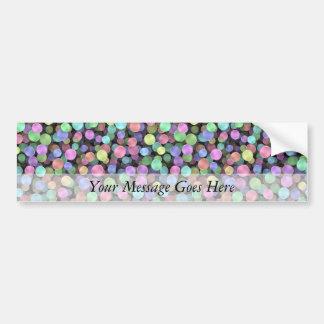 Sparkling Rainbow Polka Dots Car Bumper Sticker