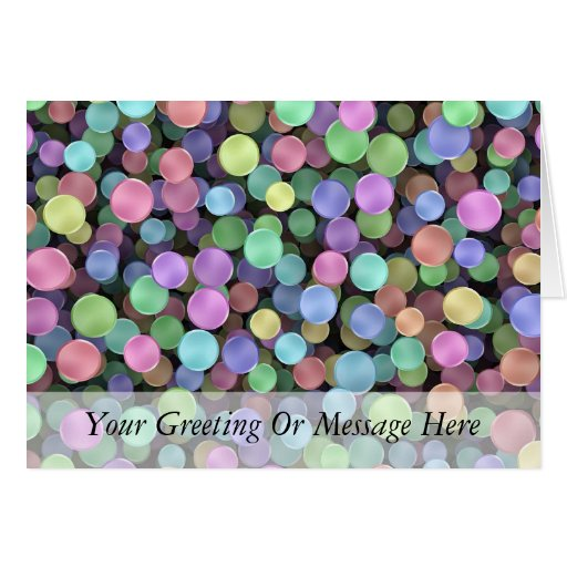 Sparkling Rainbow Polka Dots Card