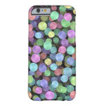 Sparkling Rainbow Polka Dots Barely There iPhone 6 Case