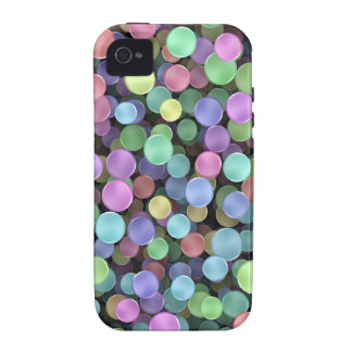 Sparkling Rainbow Polka Dots Case-Mate iPhone 4 Case
