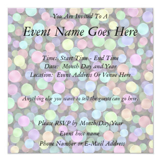 Sparkling Rainbow Polka Dots Invitations