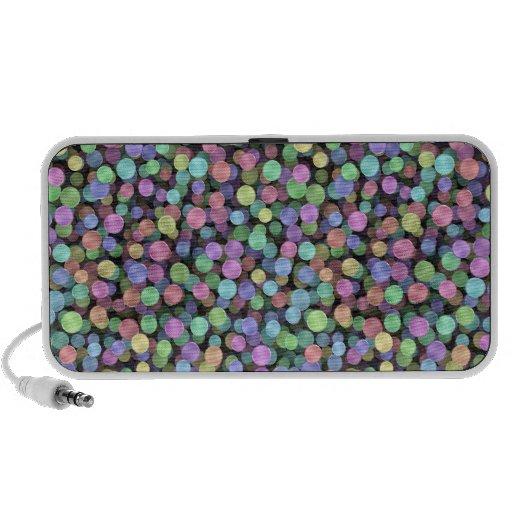 Sparkling Rainbow Polka Dots Mini Speaker