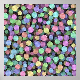 Sparkling Rainbow Polka Dots Poster