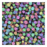 Sparkling Rainbow Polka Dots Posters