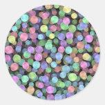Sparkling Rainbow Polka Dots Sticker