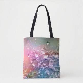 Sparkling Rainbow Water Drops Tote Bag