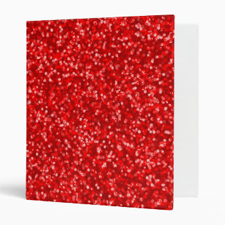 Sparkling Red Glitter 3 Ring Binder