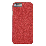 Sparkling Red Glitter Barely There iPhone 6 Case