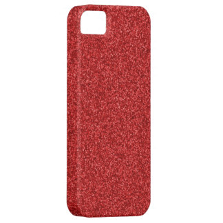 Sparkling Red Glitter iPhone SE/5/5s Case