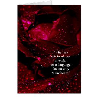 Sparkling Rose Detail Card