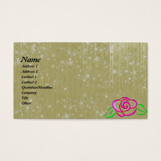 Sparkling Rose Fantasy Business Card