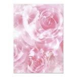 sparkling roses 5x7 paper invitation card