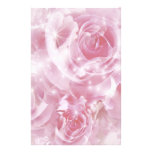 sparkling roses personalized stationery