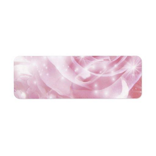 sparkling roses return address label
