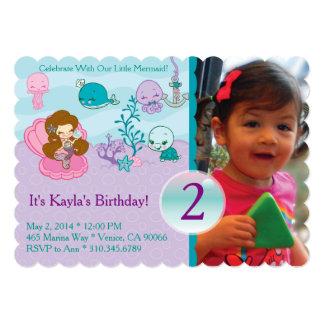Sparkling Sea Birthday Invite