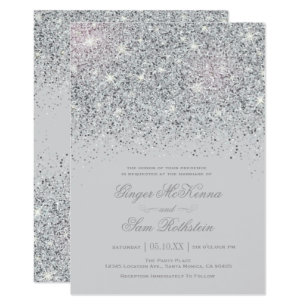 Sparkle Wedding Invitations Announcements Zazzle
