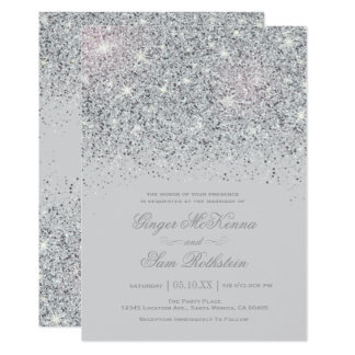 sparkle wedding invitations & announcements | zazzle, Wedding invitations