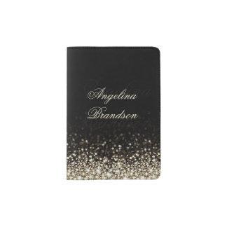 Sparkling Silver Star Design Passport Holder