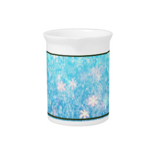 Sparkling Snow Ceramic Pitcher