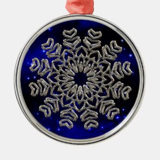 Sparkling Snowflake Premium Round Ornament