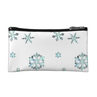 Sparkling Snowflakes Accessory Bag/Clutch Cosmetic Bag