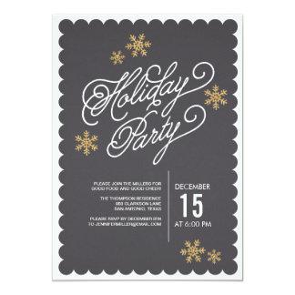 "Sparkling Snowflakes Holiday Party Invitation 5"" X 7"" Invitation Card"