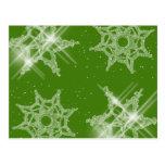 Sparkling Snowflakes Postcard