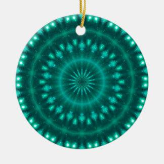 Sparkling soul music (emerald-spring-pine) ceramic ornament