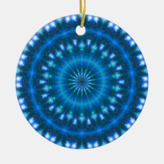 Sparkling soul music (sapphire-electric-sky) ceramic ornament