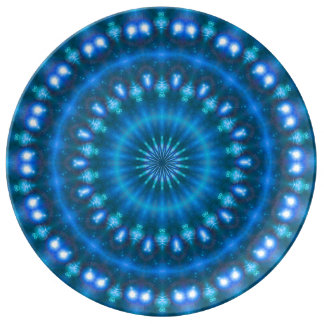 Sparkling soul music (sapphire-electric-sky) dinner plate