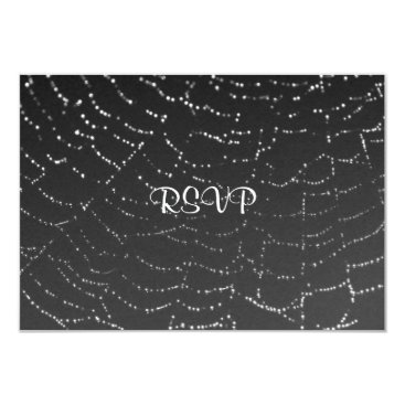Halloween Themed Sparkling Spiderweb Card
