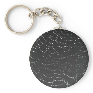 Halloween Themed Sparkling Spiderweb Keychain