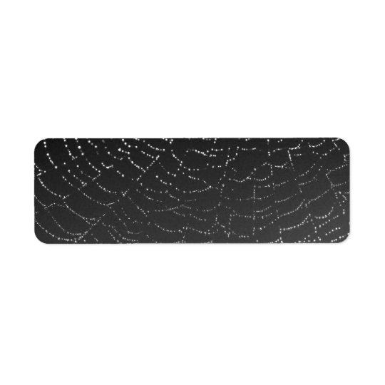 Sparkling Spiderweb Label