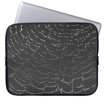 Halloween Themed Sparkling Spiderweb Laptop Sleeve