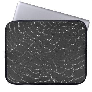 Sparkling Spiderweb Laptop Sleeves